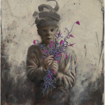blüht, Öl auf Leinwand, 90x80 cm, 2013